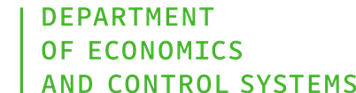 Department of Economics and Control Systems